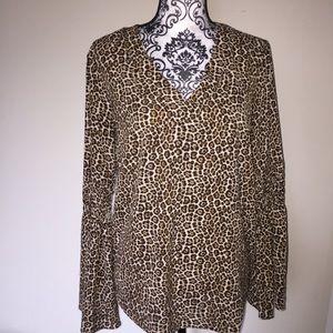♥️4 for $20 Michael Kors Blouse Top Tunic Leopard